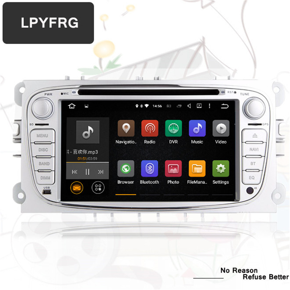 3/4G LTE Android 9.0 Octa 8 Core Car DVD Player <font><b>GPS</b></font> For <font><b>FORD</b></font> <font><b>Mondeo</b></font> S-MAX Connect FOCUS 2 2008 2009 <font><b>2010</b></font> 2011 64G ROM+4G RAM image