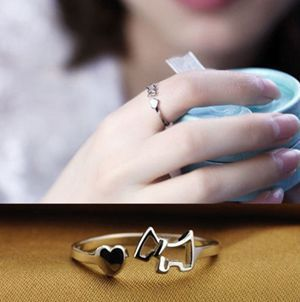 Trendy Adjustable Metal Dog Ring