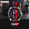 Brand British Style Watch Joker Fashion Quartz-Watch Men Quartz 30M Waterproof Nylon Strap Men's Casual Watches Wristwatch SKMEI