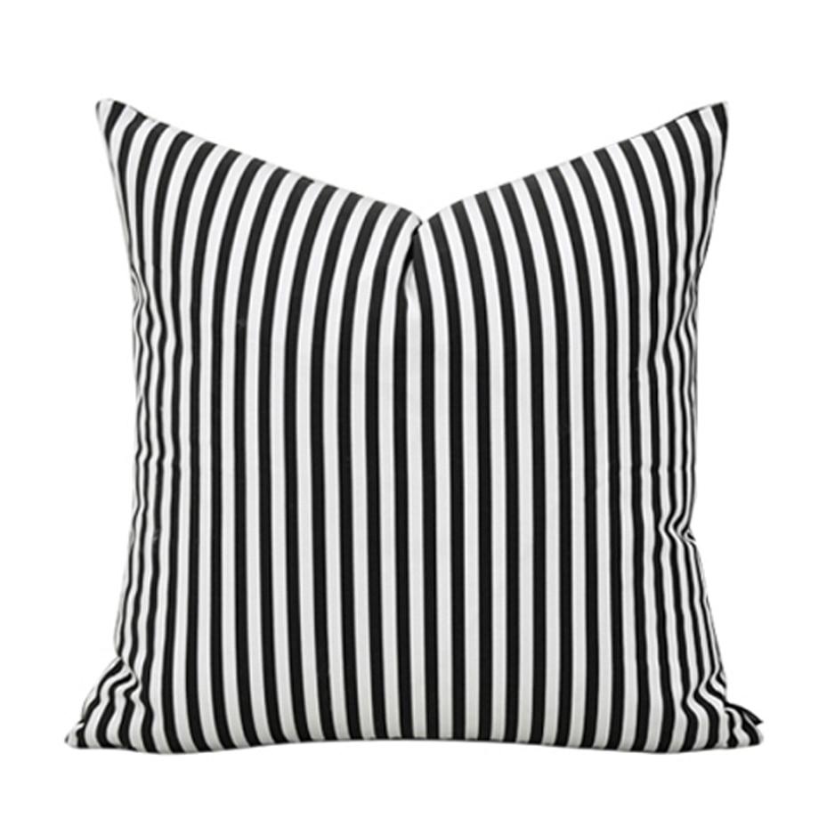 Brief Simple Style Black White Stripe 18% Cotton Home Decor Throw ...