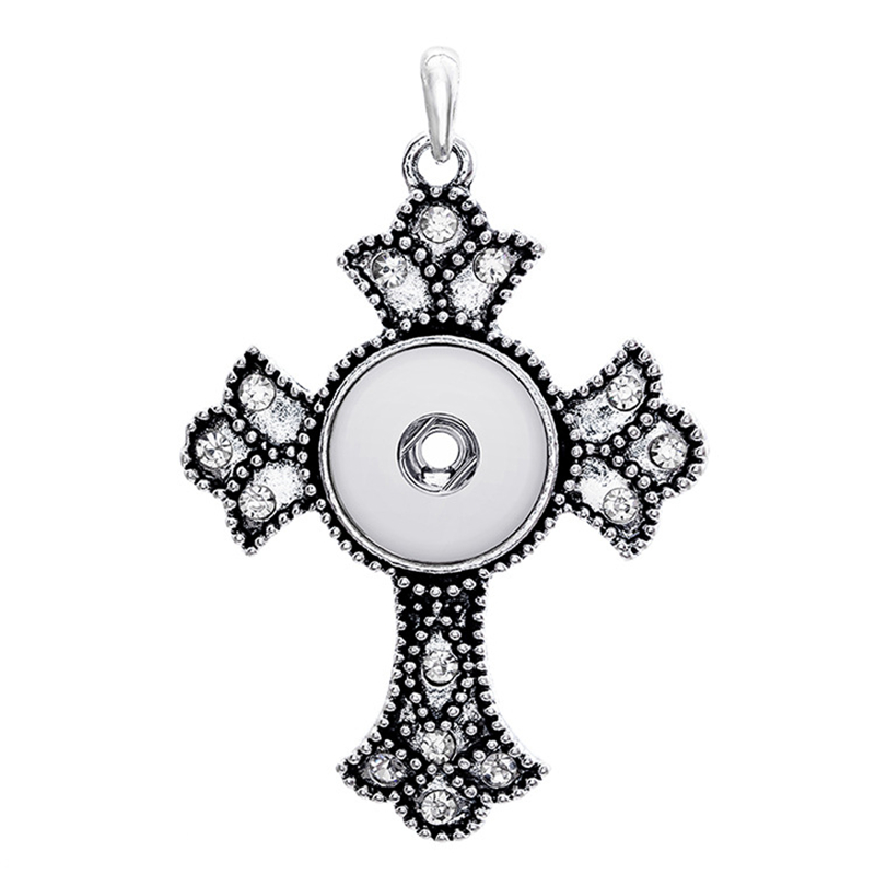 10pcs /lot cross snap button jewelry newest pendant Necklace (fit 18mm 20MM snap) jewelry