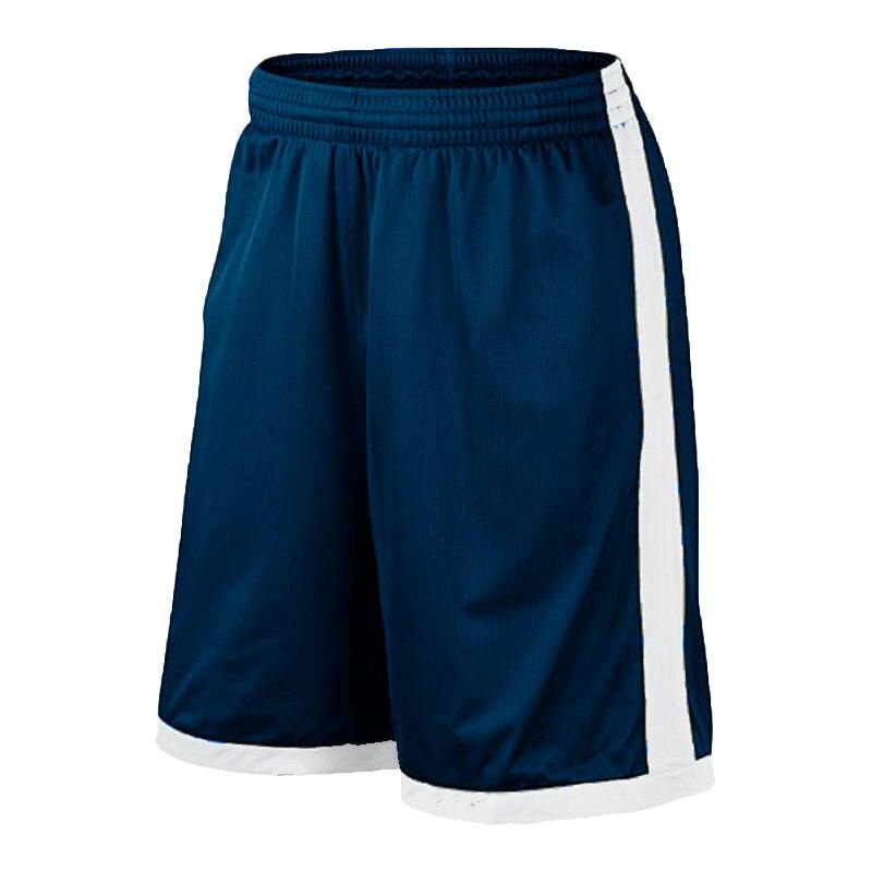 Баскетбольные шорты размера плюс, мужские спортивные шорты, мужские быстросохнущие баскетбольные шорты с карманами, баскетбольная майка высокого качества - Цвет: Navy white