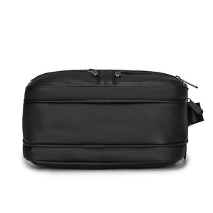 Image 5 - 男性本革メッセンジャーバッグ牛革ショルダーバッグデザインブランドショルダーバッグ男性バッグ黒レトロ多機能ハンドバッグ