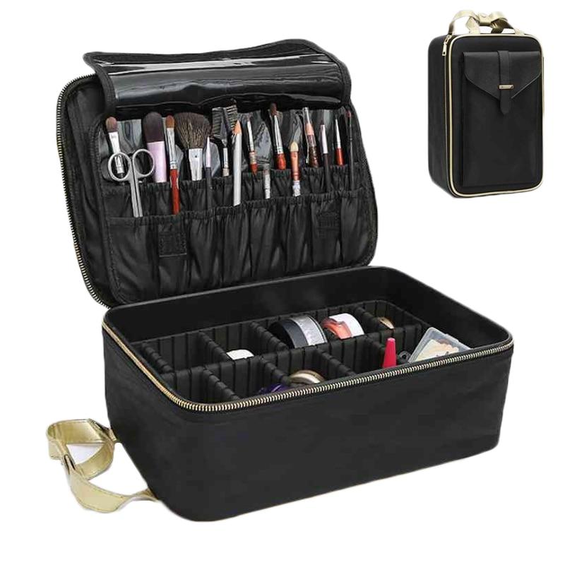 Grande boîte de maquillage multicouche étui professionnel sac cosmétique sac Neceser Maquillaje tatouages Nail Art outil organisateur valise