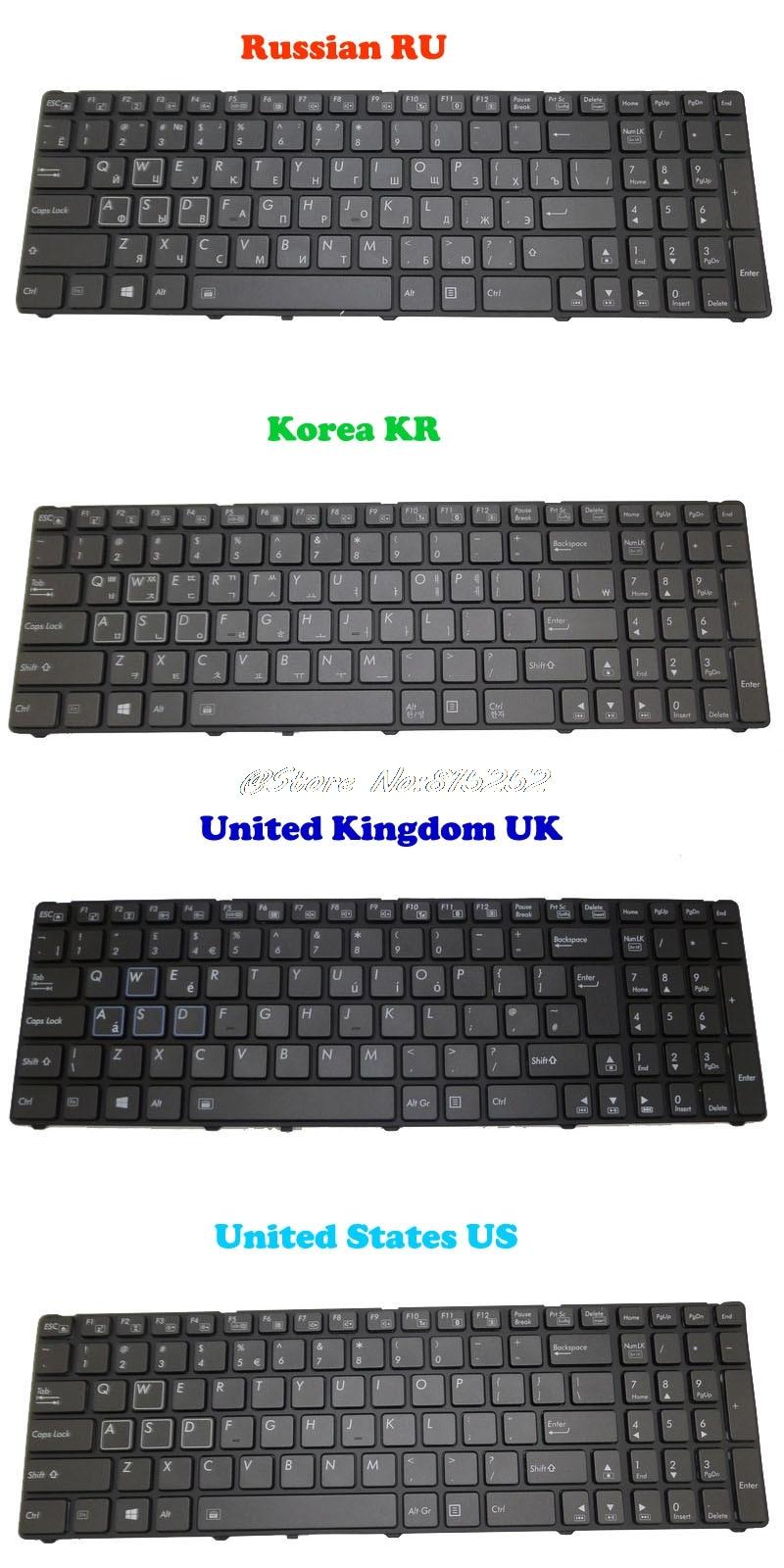 Backlit Keyboard For Gigabyte P25K P25W V2 P25W-CF1 P25W-CF2 P25W-CF3 P25X V2 P25K-CF2 V111465ES1 Korea KR Russian RU English UK laptop parts for lenovo yoga 2 13 yoga2 13 black palmrest with backlit russian ru keyboard 90205170