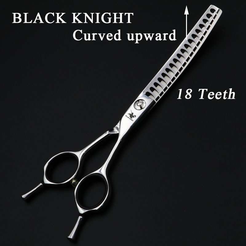 цены 6..5 Inch Professional Hairdressing Hair Scissors Curved upward Thinning Scissors Salon Barber Shears 18 Teeth High quality