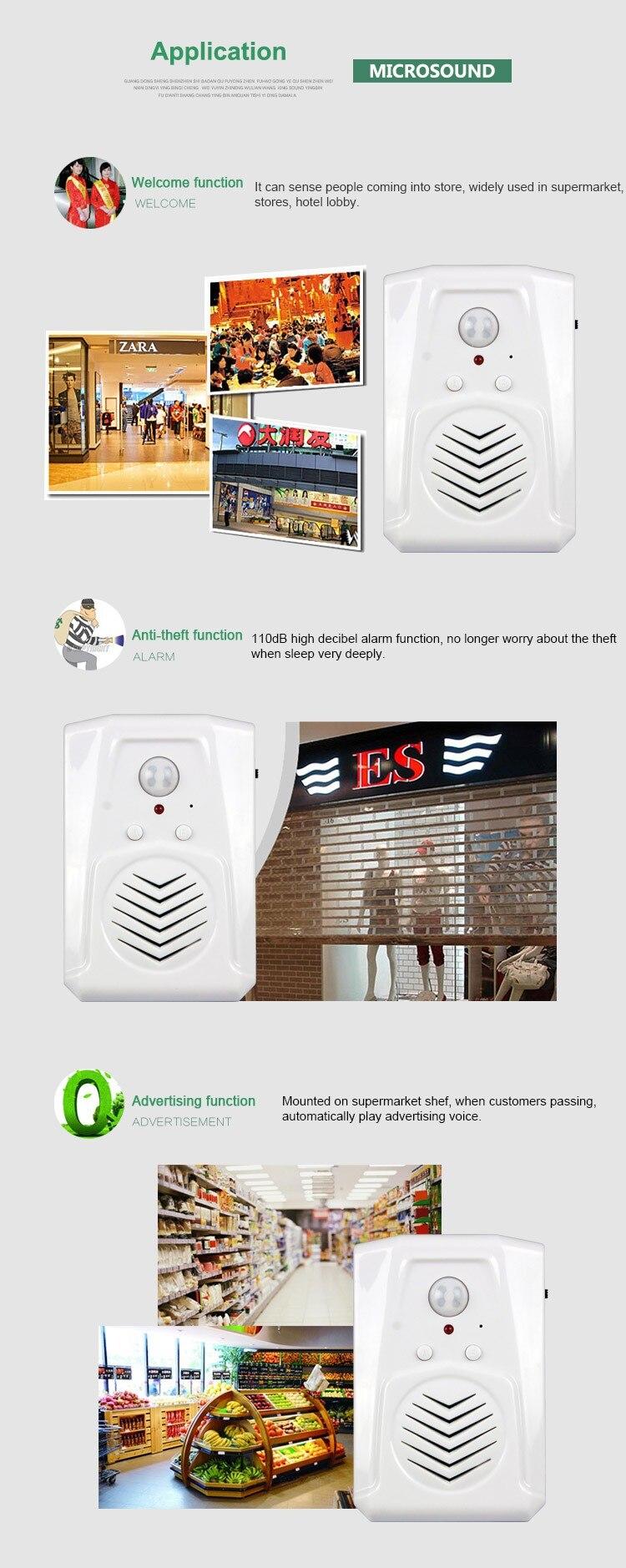 Infrared Sensor Mp3 Door Bell Shop Store Guest Welcome Alarm Circuit For Refrigerator Doors Induction Doorbell