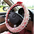 HOT SALE Cute cartoon Car Leather Steering Wheel Covers Fit 95% Car Styling for kia/ford etc.,size 38cm Cheap&High Quality