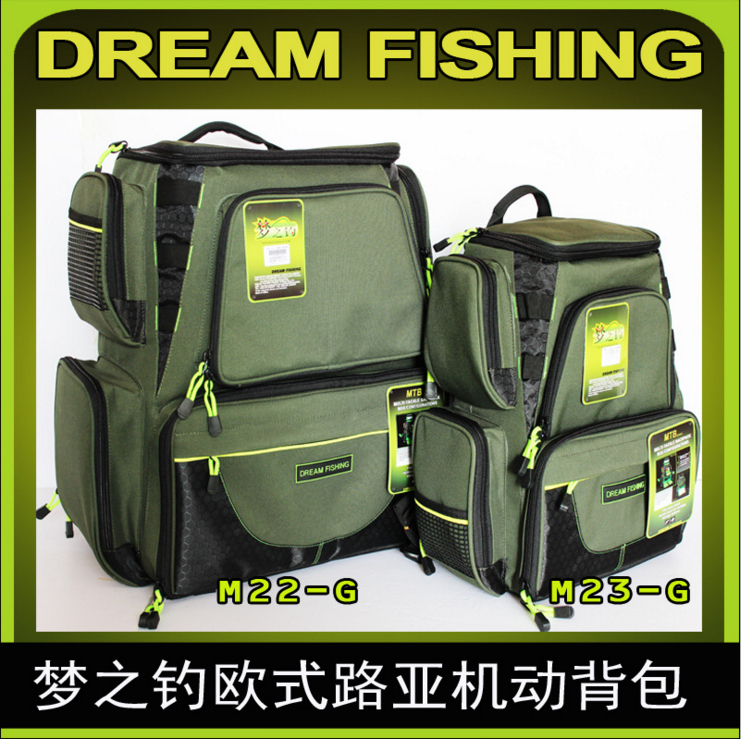 Outdoor backpack big and small size lure bag fishing gear bag kit accessories package European lure