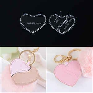 2019 New DIY leather craft shoes Love pendant Keychain pendant sewing pattern Acrylic template 7*6*1cm