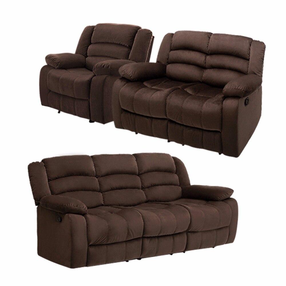 Country furniture sofa - Langria 1 Set 6 Manual Recliner Sofa Chair With Pi