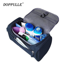 DOPPULLE Women men Large Waterproof Makeup bag Nylon Travel Cosmetic Bag Organizer Case Necessaries Make Up Wash Toiletry Bag
