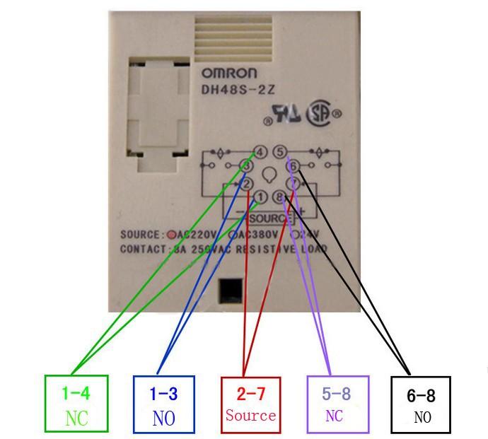 dh48s-2z паза 220 В цифровой реле времени задержки включения 8 контакт. опдп 2 группы задержки контакты