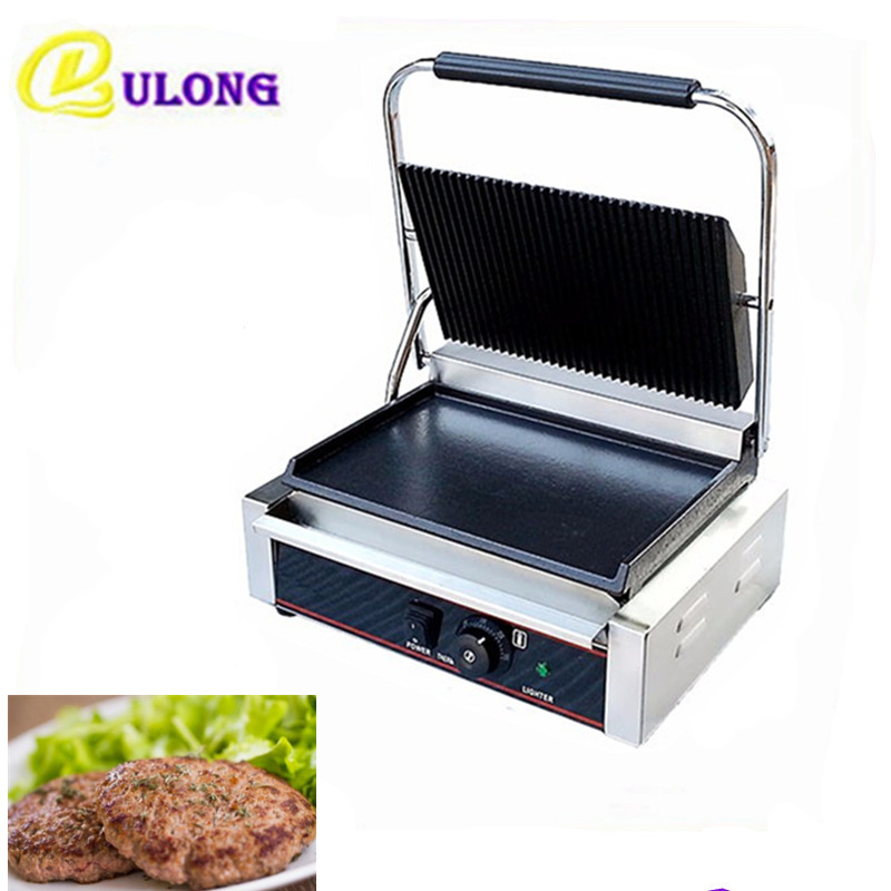 220V/1800W Non-stick Commercial Steak Sandwich Toaster Machine Electric Griddle Grill Electric Contact Grill restaurant equipment for sale commercial thermostat electric griddle machine commercial electric contact grill