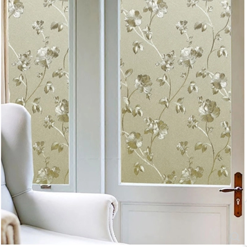 Window glass stickers 3D electrostatic frosted film bathroom kitchen balcony heat insulation transparent opaque