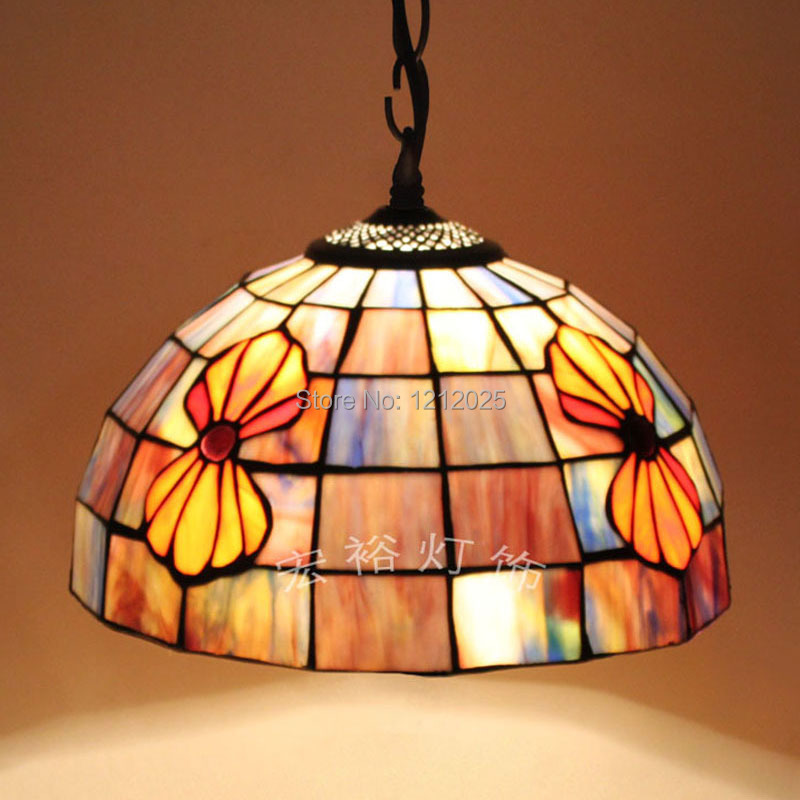 Antique Tiffany Hanging Lamp Value: Antique Tiffany Style Seashell Pendant Lamp Dinning Room
