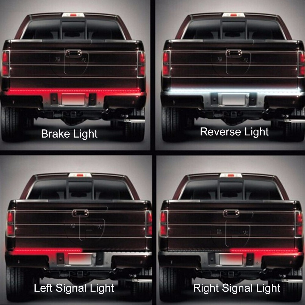 60 redwhite led tailgate light bar backup reverse braketail turn 60 redwhite led tailgate light bar backup reverse braketail turn signal light for pickup ford f 150 gmc chevy dodge suv van in signal lamp from aloadofball Images