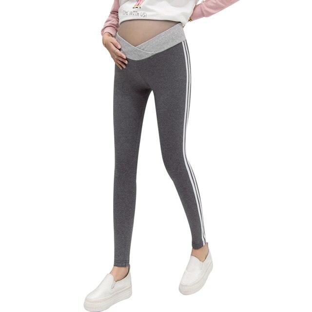 069647483286ac Maternity Legging Elastic Cotton Low Waist Pencil Spring Summer Pregnancy  Pants Clothes for Pregnant Sport Trousers C393