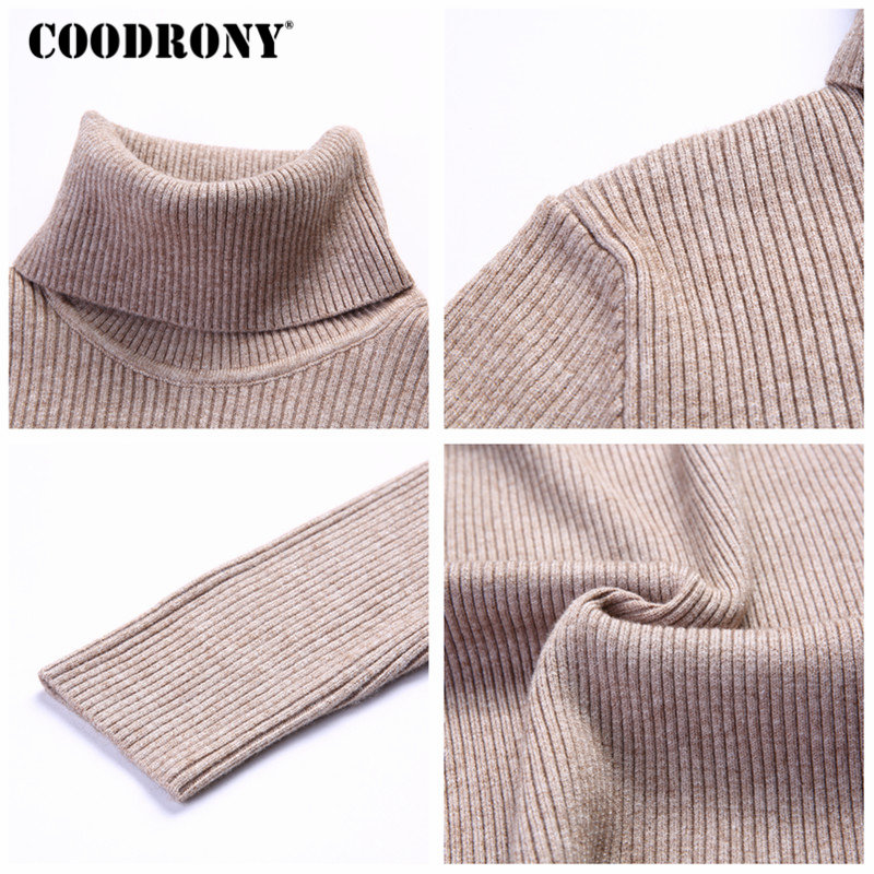Image 5 - COODRONY Christmas Sweater Men Clothes 2019 Winter Thick Warm Mens Sweaters Casual Classic Turtleneck Cashmere Pullover Men 8253-in Pullovers from Men's Clothing