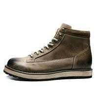 Для мужчин работа и безопасности сапоги модные Водонепроницаемый ботильоны человек резиновые на шнуровке ботинки martin резиновые мужские из