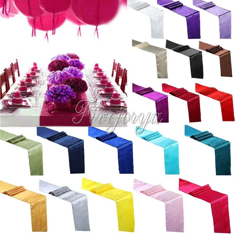 1 Stuk 30 Cm X 275 Cm Satin Tafelloper Voor Bruiloft Banket Decoratie Supply Top Kwaliteit
