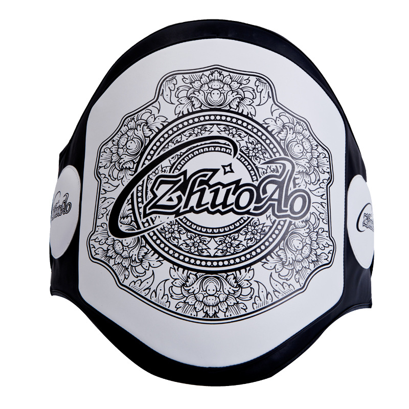 Zhuoao MMA Boxing Kickboxing Sparring Muay Thai Belly Pad Waist Chest Trainer Body Shield Protector Stomach