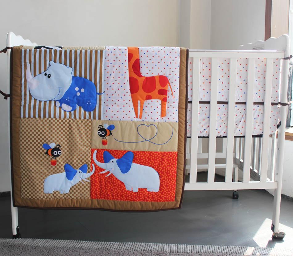 unidades del pesebre infantil kids room dormitorio beb set nursery bedding animal marrn cuna bedding