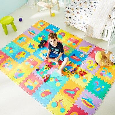 10 pçs animal número padrão de espuma quebra-cabeça crianças tapete divisão conjunta eva bebê jogar esteira interior macio atividade quebra-cabeça esteiras
