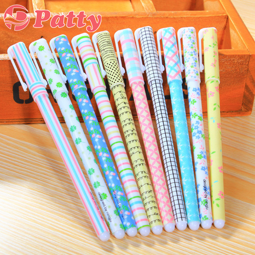 100 pcs Lot Flower design gel pens School ballpoint pen Zakka office material canetas escolar Korean