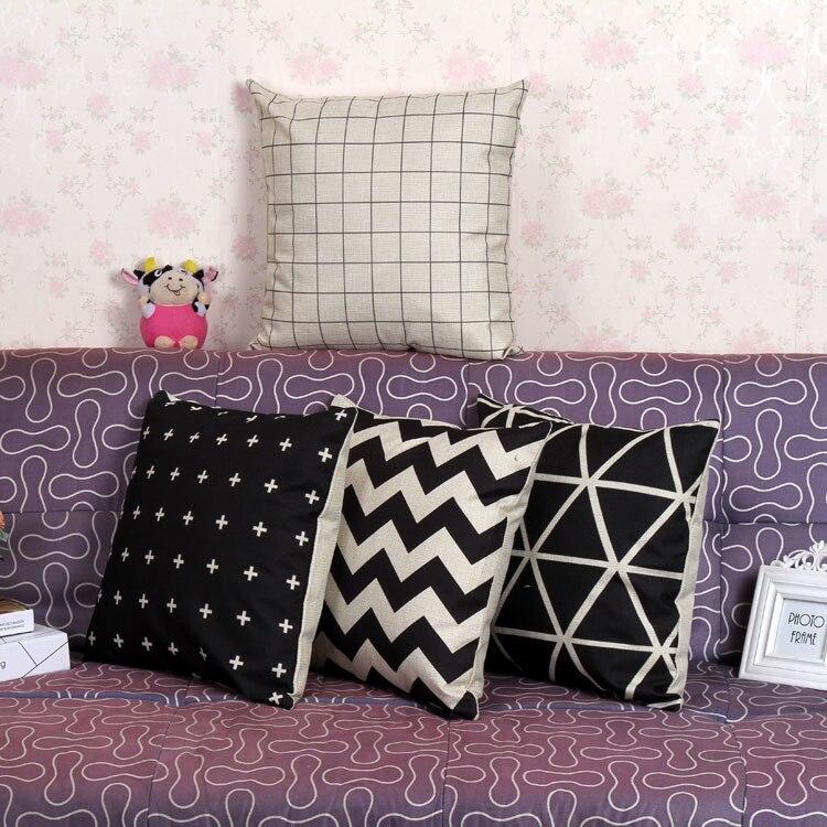 Φ_ΦLino natural almohada cubierta patrón impreso digital sofá ...