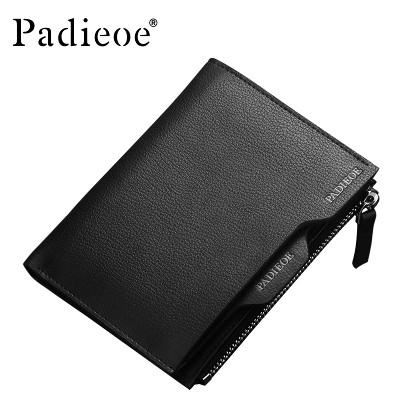 Padieoe Fashion Men Wallets Genuine Leather Bifold Wallet Brand Business Male Zipper Purse игра yako m6028