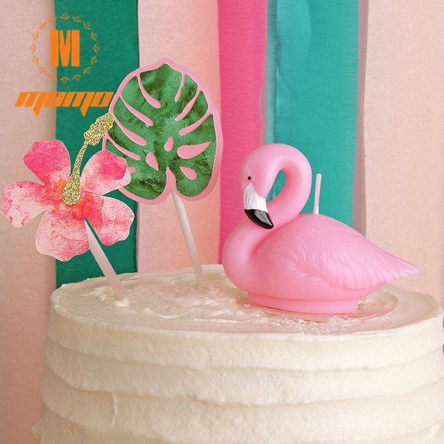 3D Cute Flamingo Candle Birthday Candles Backery Cake Decoration Sparkler Wedding Party Supplies