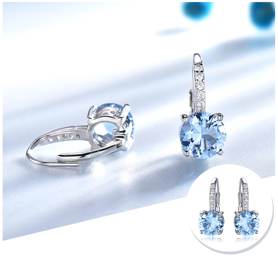 silver gemstone topaz earrings for women  (5)