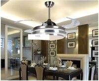 Işıklar ve Aydınlatma'ten Tavan Fanları'de Moda ABS bıçakları fan kolye fan aydınlatma minimalist  modern yatak odası yemek odası kolye fan uzaktan kumanda ile ışıkları LED