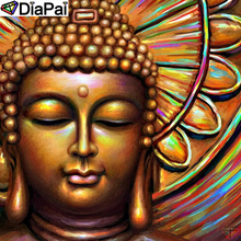 DiaPai Diamond Painting 5D DIY 100% Full Square/Round Drill Religious Buddha Diamond Embroidery Cross Stitch 3D Decor A24562 diapai 5d diy diamond painting 100% full square round drill text moon buddha diamond embroidery cross stitch 3d decor a21533
