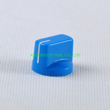 10pcs Colorful Blue Rotary Volume Control Plastic Potentiometer Knob Knurled Shaft Hole цена