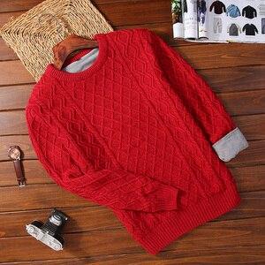 Image 2 - Suéter de terciopelo grueso para hombre, Jersey de punto grueso para mantener el calor, suéter para adolescentes, M36 estilo coreano, novedad de 2020