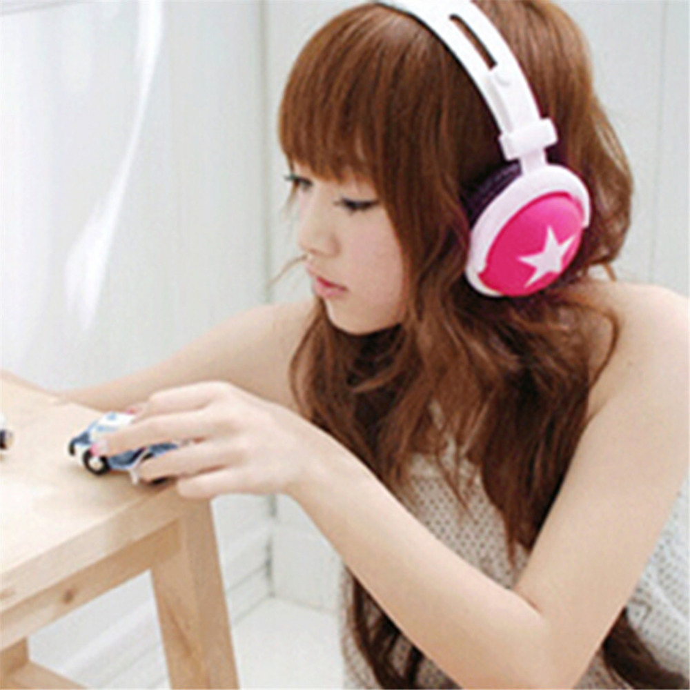 3.5mm Head Star Headphone Pattern StyleType Mega Bass Sports Earphone 1.2M Wired Headphone Headset -15