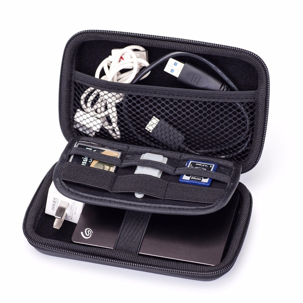 GUANHE Electronic Accessories Storage Pouch Kit Organizer Cable Power Bank Hard Drive U Disk Carry Case Smart Phone