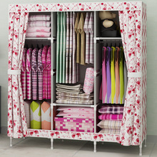 Mini Portable metal simple wardrobe cloth home free combination