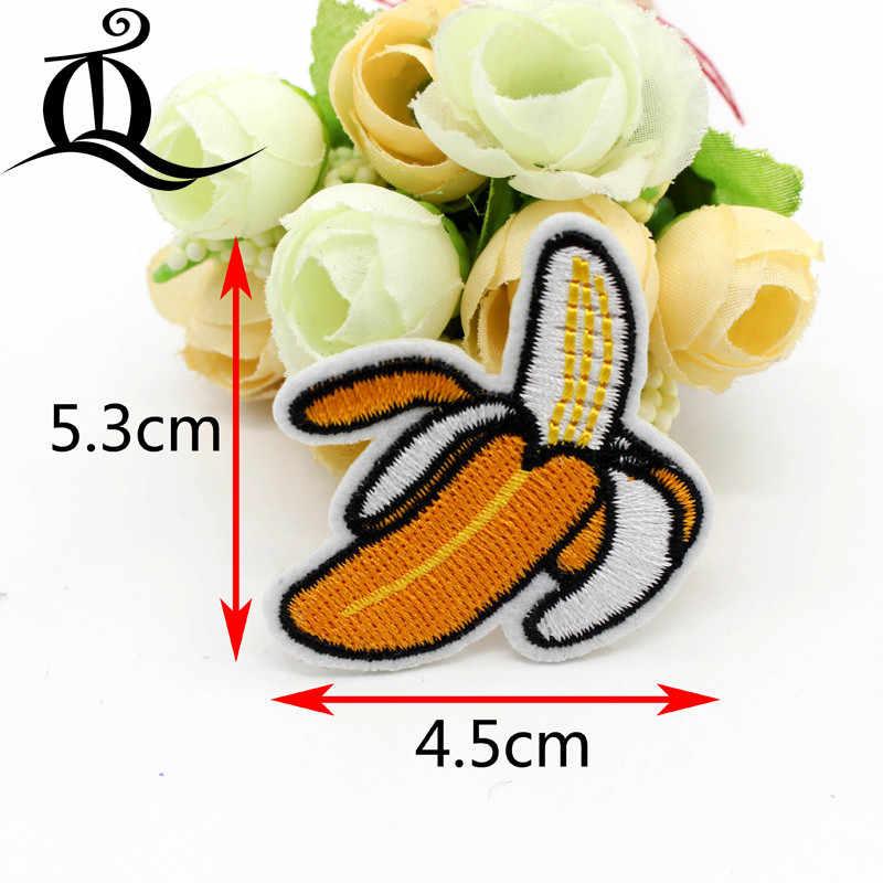 1 шт. патч мультфильм ананас, банан дерево Вышитые милые термонаклейки мультфильм заплатка для одежды детские джинсы значки аппликаций