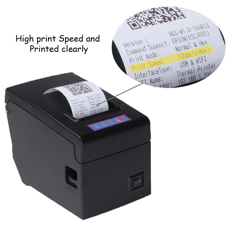 US $98 0 |High quality 58mm usb wifi pos printer thermal receipt printing  support LOGO and graphics downloads with big paper warehouse-in Printers