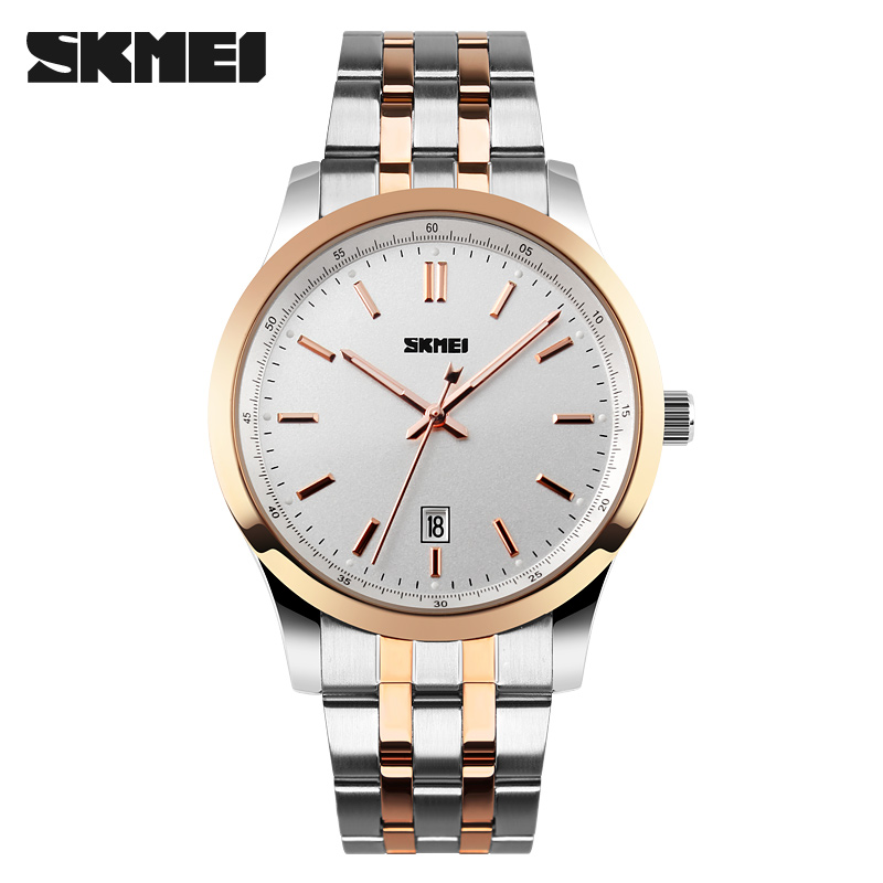 SKMEI Men Watches Top Brand Luxury Men Quartz Wrist Watches Full Stainless Steel Men Sports Watch Waterproof Relogio Masculino commercial sea inflatable blue water slide with pool and arch for kids