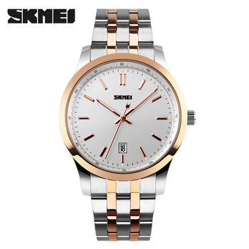 4b6a7a0b9eb7 SKMEI relojes de hombres superior de la marca de lujo de los hombres relojes  de pulsera de cuarzo de acero inoxidable completa de los hombres reloj ...