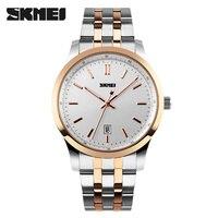SKMEI Men Watches Top Brand Luxury Men Quartz Wrist Watches Full Stainless Steel Men Sports Watch