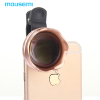 Mousemi 4in1 3X HD теле объектив HD полный Fisheye Широкий формат макро Оптические стёкла универсальный зажим рыбий глаз для iPhone Камера Объективы для те...