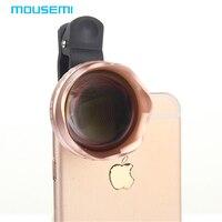 Mousemi 4in1 3X HD теле объектив HD полный Fisheye Широкий формат макро Линзы универсальный зажим рыбий глаз для iPhone Камера Объективы для телефонов