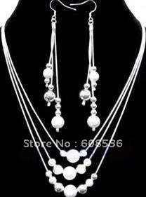 תכשיטי אופנה, Hot 925 כסף תכשיטי סטי שרשרת וצמיד, תכשיטי, מותג חדש S74