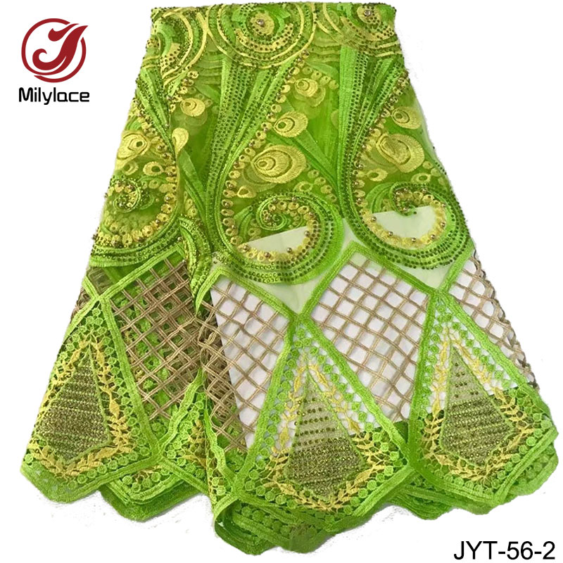 Lemon green lace fabric beaded tulle lace african style french lace fushia pink net lace fabric