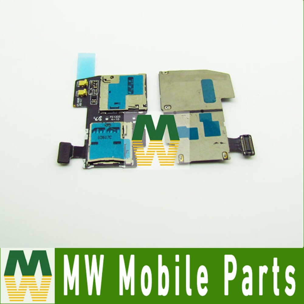 For Samsung Galaxy S4 Active i9295 SIM Card Reader Slot Tray Holder Socket Parts 5PC/Lot Free Shipping